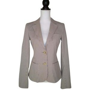 Theory 6 Jovanna Jacket Striped Cotton Blazer